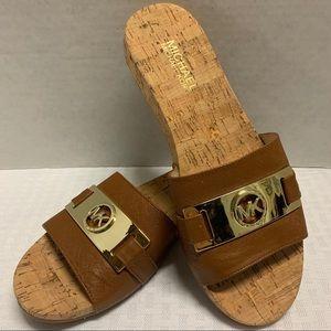 MICHAEL Michael Kors Warren Luggage Slide Sandals.